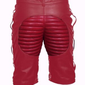 men-bondage-real-red-leather-shorts