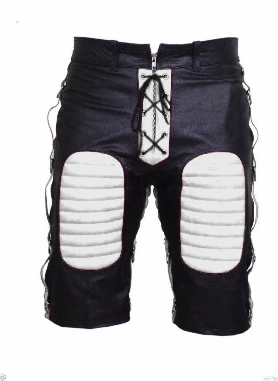 men-bondage-real-white-black-leather-shorts