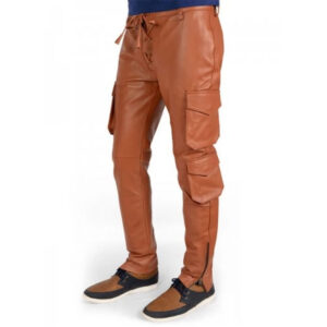 men-soft-pure-tan-leather-cargo-pant