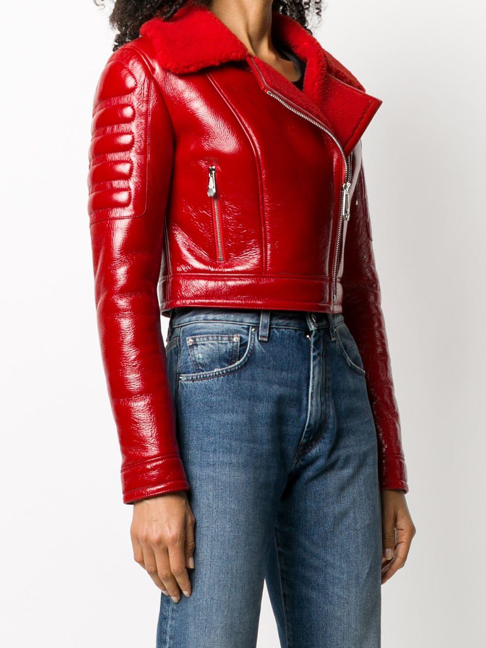 red-shearling-fur-leather-padded-biker-jacket