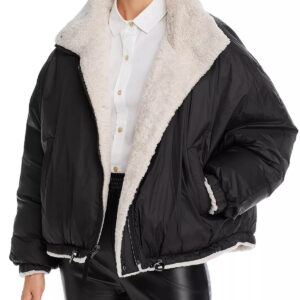 Ivoire Reversible Faux Fur Shearling Jacket
