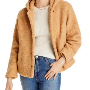 Cropped Faux Fur Sherpa Style Hoodie
