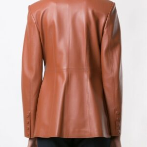 Women Brown belted blazer