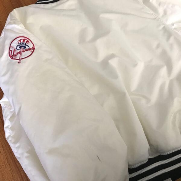 New York White Yankees Vintage 90s Satin Jacket