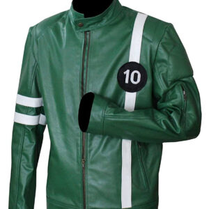 Ben 10 Green Alien Swarm Leather Jacket