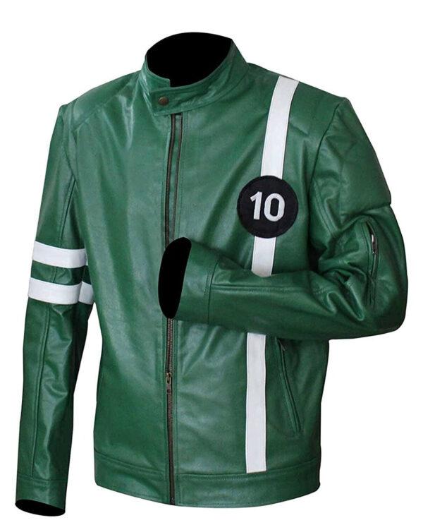Ben 10 Green Alien Swarm Leather Jacket