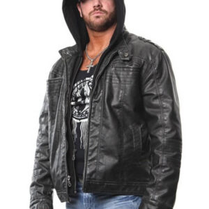 AJ Styles Allen Neal Jones Hoodie Leather Jacket