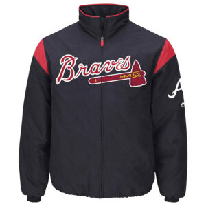 Atlanta Braves Navy On-Field Thermal Jacket