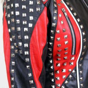 Biker Studded Leather Jacket for WomenBiker Studded Leather Jacket for Women