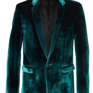 Birds of Prey Black Mask Velvet Blazer Coat