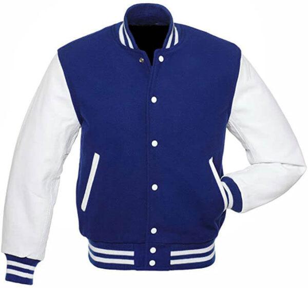 Blue Varsity Letterman baseball jacket