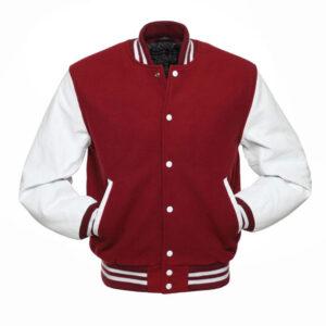 Cardinal Varsity Letterman Baseball Jacket