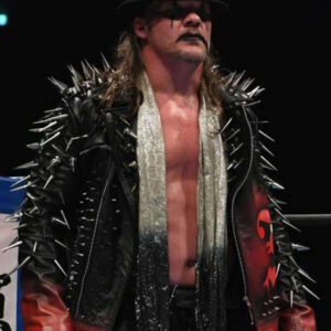 Chris Jericho AEW Long Spikes Leather Jacket