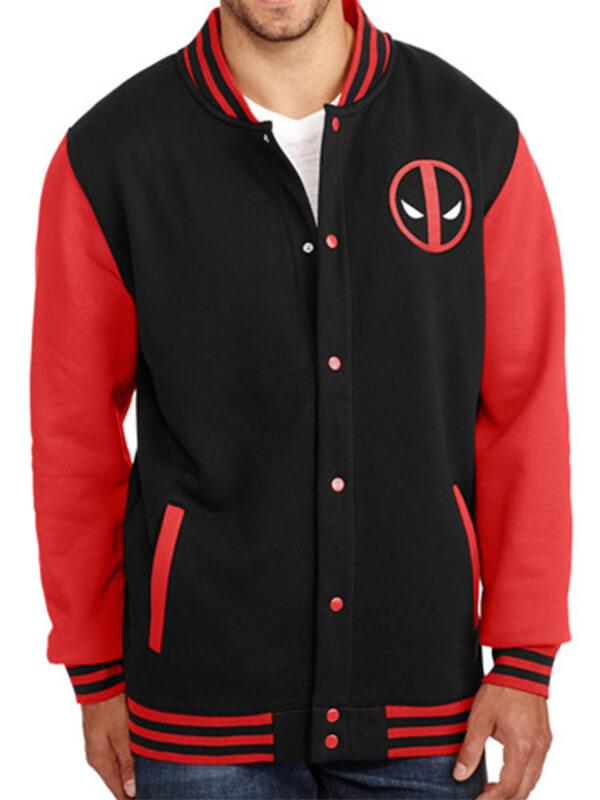 Deadpool Varsity Letterman Jacket
