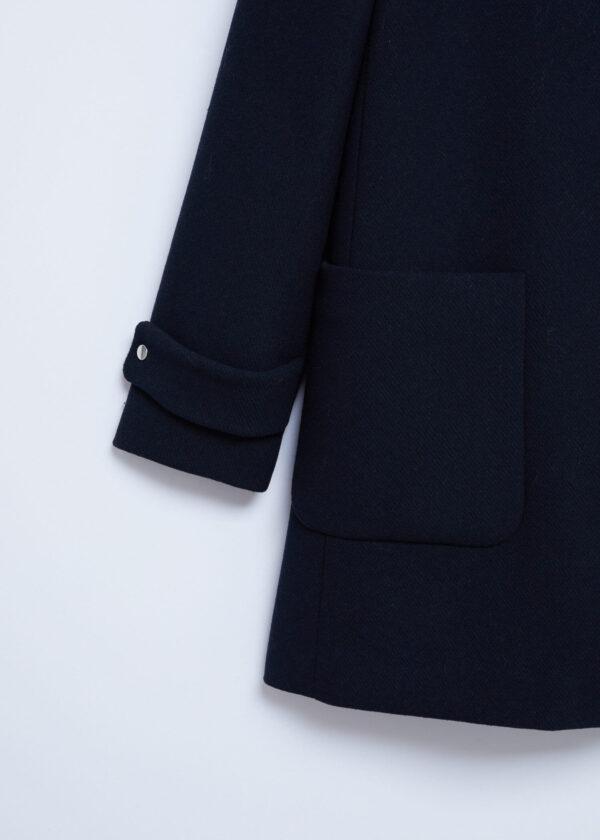 Faux Fur Black Hooded Coat