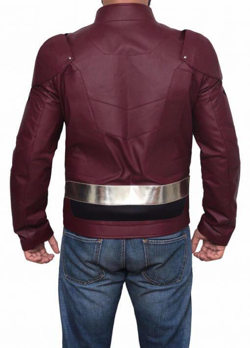 Flash Justice League Leather Jacket
