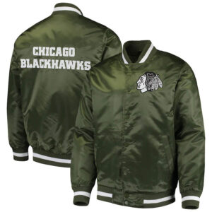 Green Chicago Blackhawks Captain II Satin Jacket