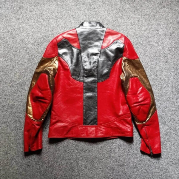 Iron Man Metallic Red and Gold Leather Jacket