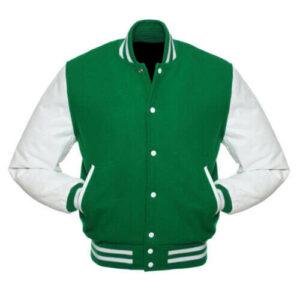 Letterman Baseball Varsity Jacket Green Wool