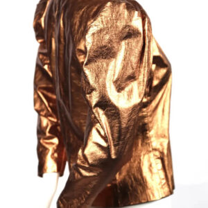Metallic Copper Vintage 1980's Leather Jacket