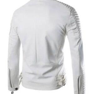 Moto White Leather Jacket