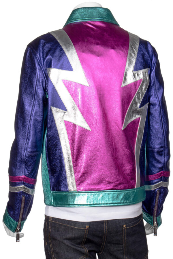 Multicolored Metallic Leather JacketMulticolored Metallic Leather Jacket