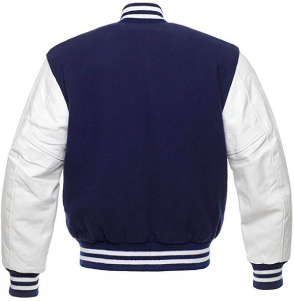 Navy Blue Varsity Letterman baseball jacket