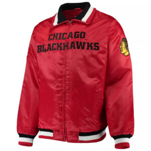 Red Chicago Blackhawks Captain II Satin Jacket