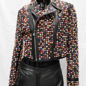 Skittles Short Leather Women's Jacket
