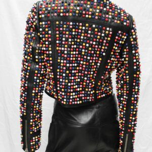Skittles Short Leather Women's Jacket