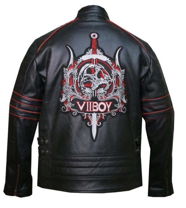 Vintage VII BOY Leather Embroidered Jacket