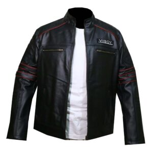 Vintage VII BOY Leather Embroidered Jacket