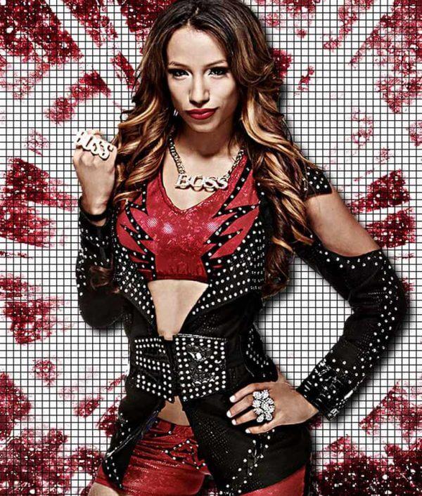 WWE Sasha Black Studded Jacket
