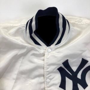 White Yankees Vintage 80s New York Satin Jacket