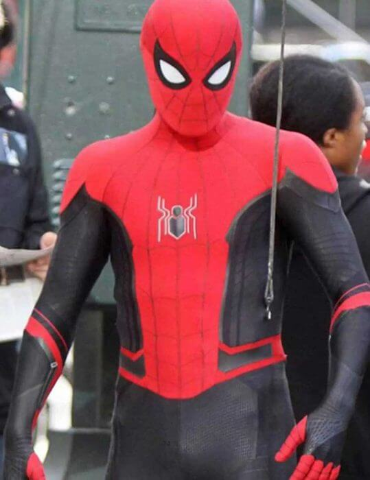 Spider-Man Far From Home Red and Black Jacket
