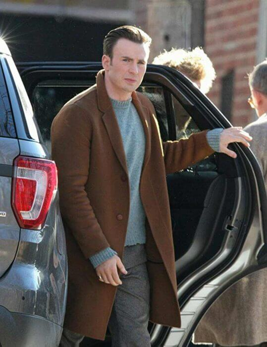 Knives Out Chris Evans Coat