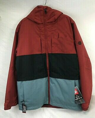 Rusty Red Color block Jacket