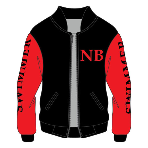 NB Football Swimmer 84 Cotton Red Varsity Jacket