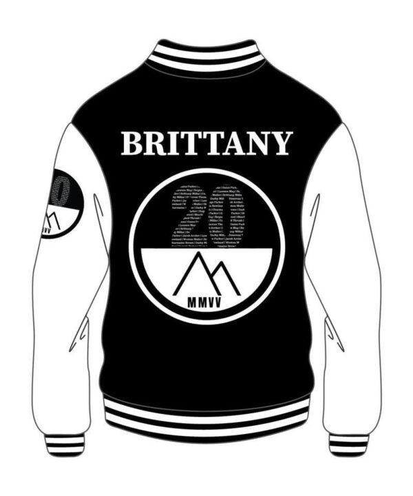 Custom Black & White Mens Varsity Jacket