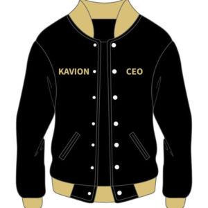 Custom Black Varsity Cotton Jacket