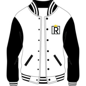Custom Varsity Royal Black and White Jacket