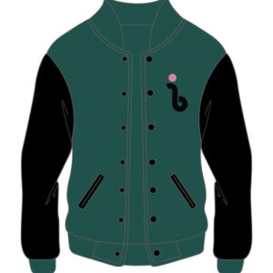 Custom Design Green and Black Varsity Jacket