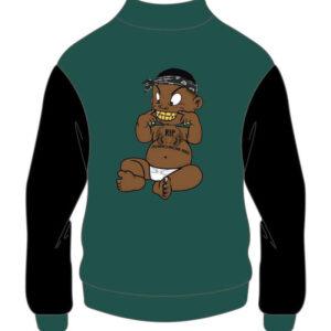 Custom Design Green and Black Varsity Jacket