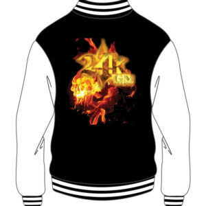 Custom Design Black & White Varsity Bomber Jacket