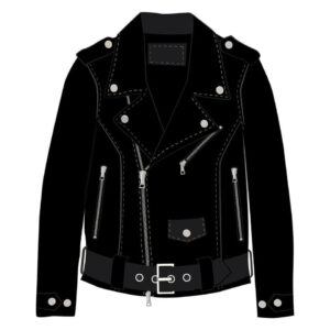 Custom Leather Black Motorcycle Jacket