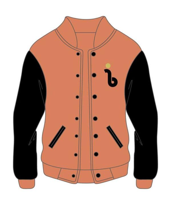 Custom Design Orange and Black Varsity Jacket