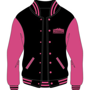 Custom Bomber Pink Varsity Jacket