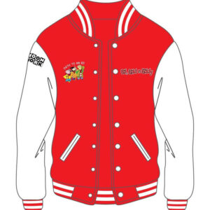 Custom Design Red and White Varsity Jacket