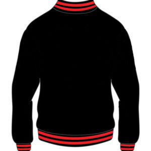 Custom Black And Red Varsity Jacket