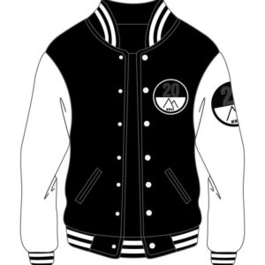 Custom Black & White Mens Varsity Jacket